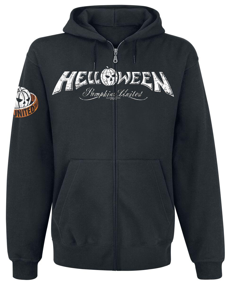 Zespoły - Bluzy z kapturem - Bluza z kapturem rozpinana Helloween Tour Rings Bluza z kapturem rozpinana czarny - 373318
