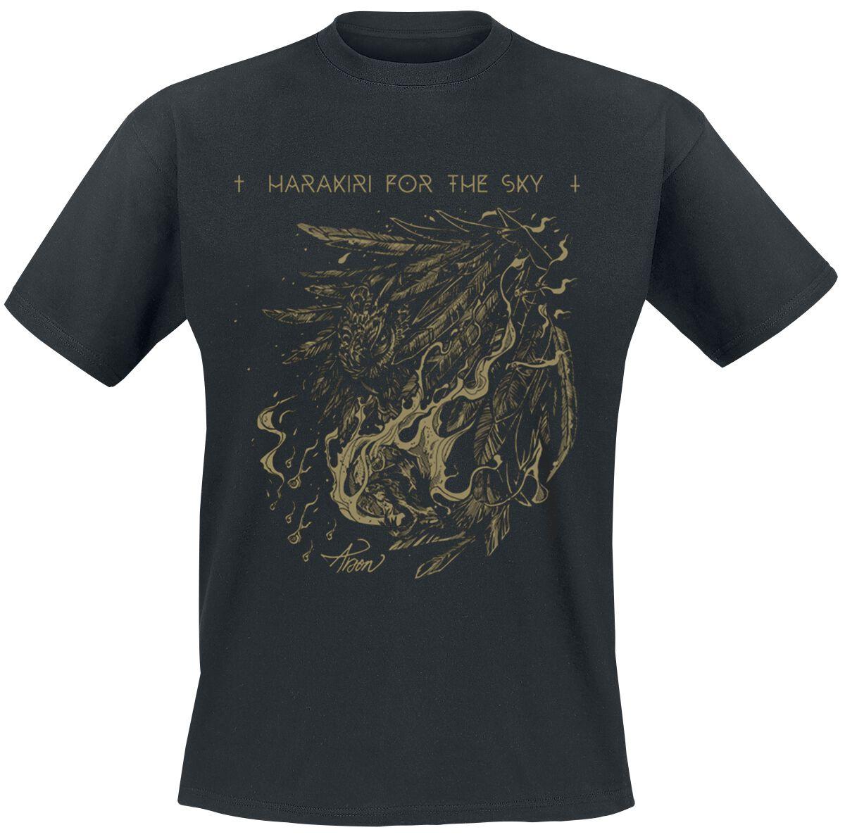 Zespoły - Koszulki - T-Shirt Harakiri For The Sky Arson Gold T-Shirt czarny - 373350
