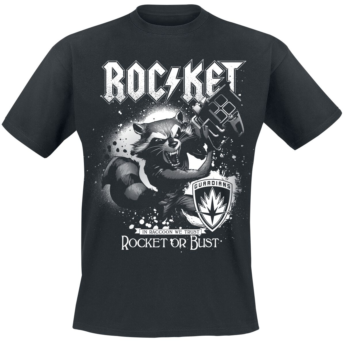 Image of   Guardians Of The Galaxy 2 - Rocket Or Bust T-Shirt sort