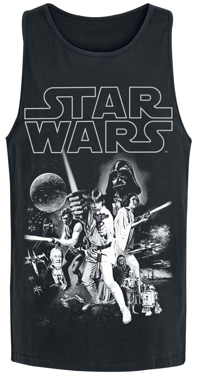 Image of   Star Wars Episode 4 - Eine Neue Hoffnung - Classic Poster Tanktop sort