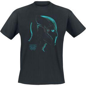 Black Panther Profile T-shirt noir