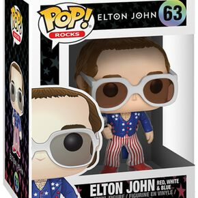 Figurine Pop! Rocks Elton John Bleu Blanc Rouge