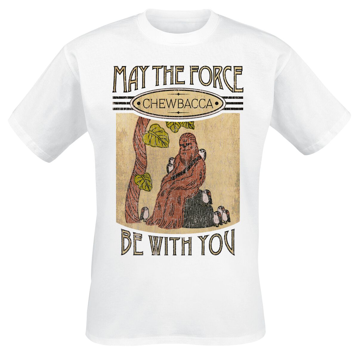 Image of   Star Wars Chewbacca & Friends T-Shirt hvid