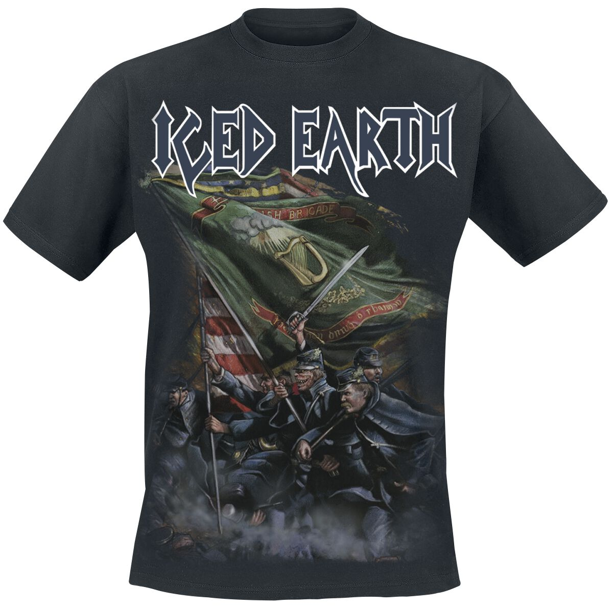 Image of   Iced Earth Black flag Hættejakke sort