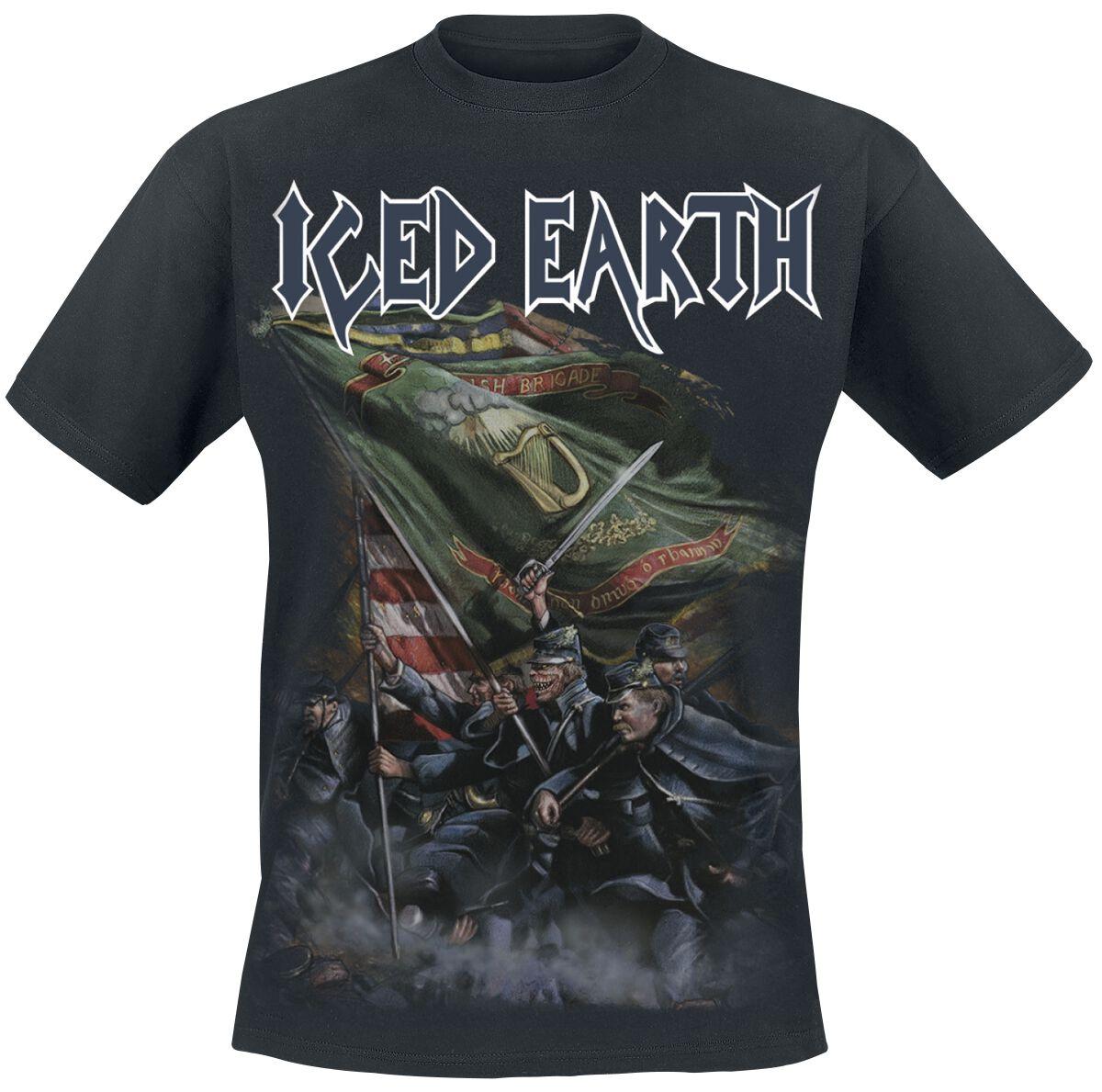 Zespoły - Koszulki - T-Shirt Iced Earth Clear the way T-Shirt czarny - 373528