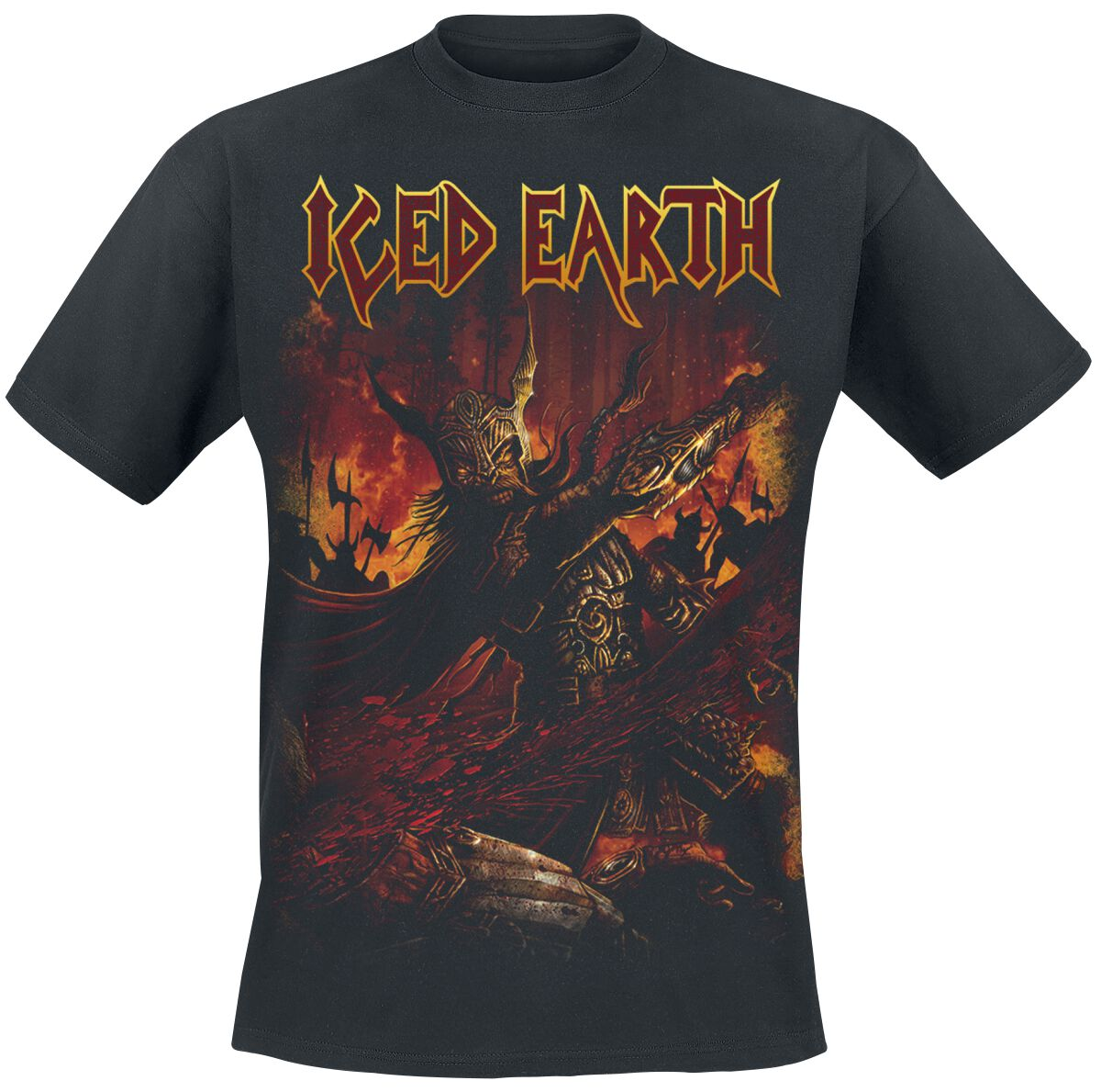 Zespoły - Koszulki - T-Shirt Iced Earth The great heathen army T-Shirt czarny - 373529