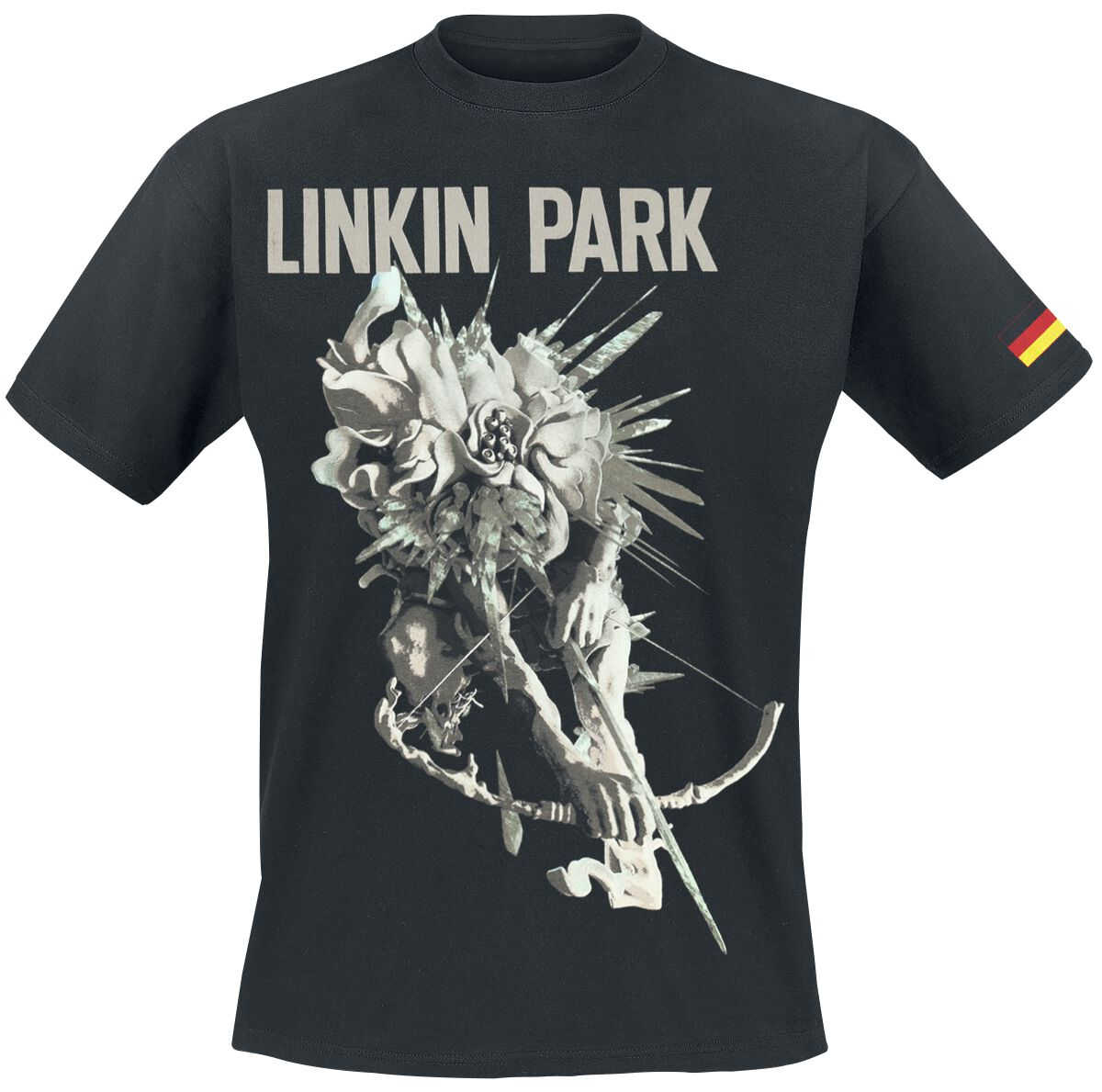 Image of   Linkin Park LIP Archer Tour Dated German Colors T-Shirt sort