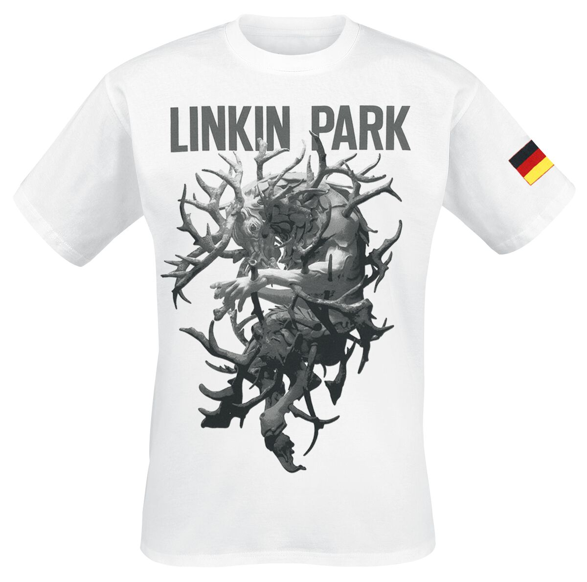 Image of   Linkin Park LIP Stag Tour Dated T-Shirt hvid