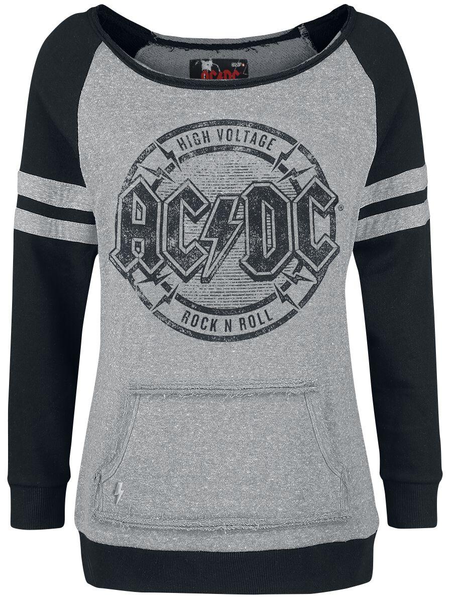 Image of   AC/DC EMP Signature Collection Girlie sweatshirt blandet grå-sort