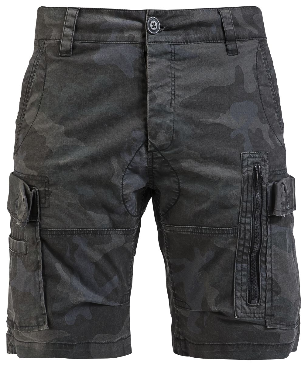 Image of   Brandit Kite Short Slim Fit Shorts mørk camo