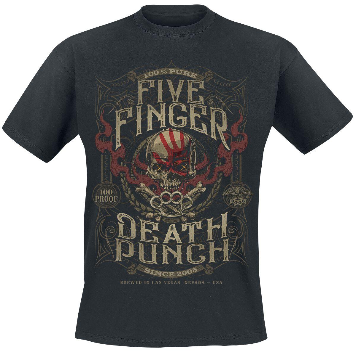 Image of   Five Finger Death Punch 100 Proof T-Shirt sort