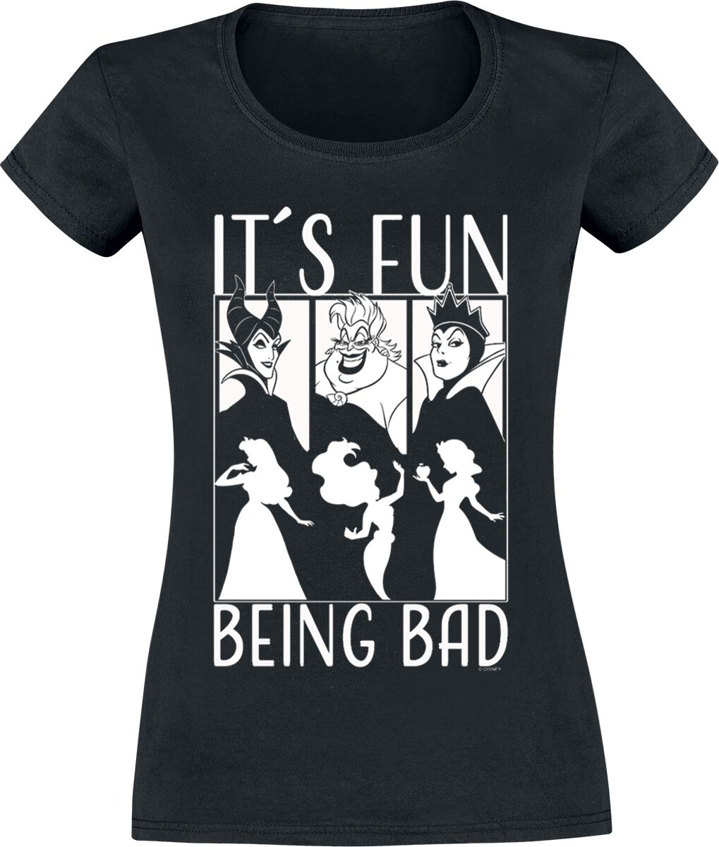 4824ff2a Disney Villains It´s Fun Being Bad Girlie trøje sort