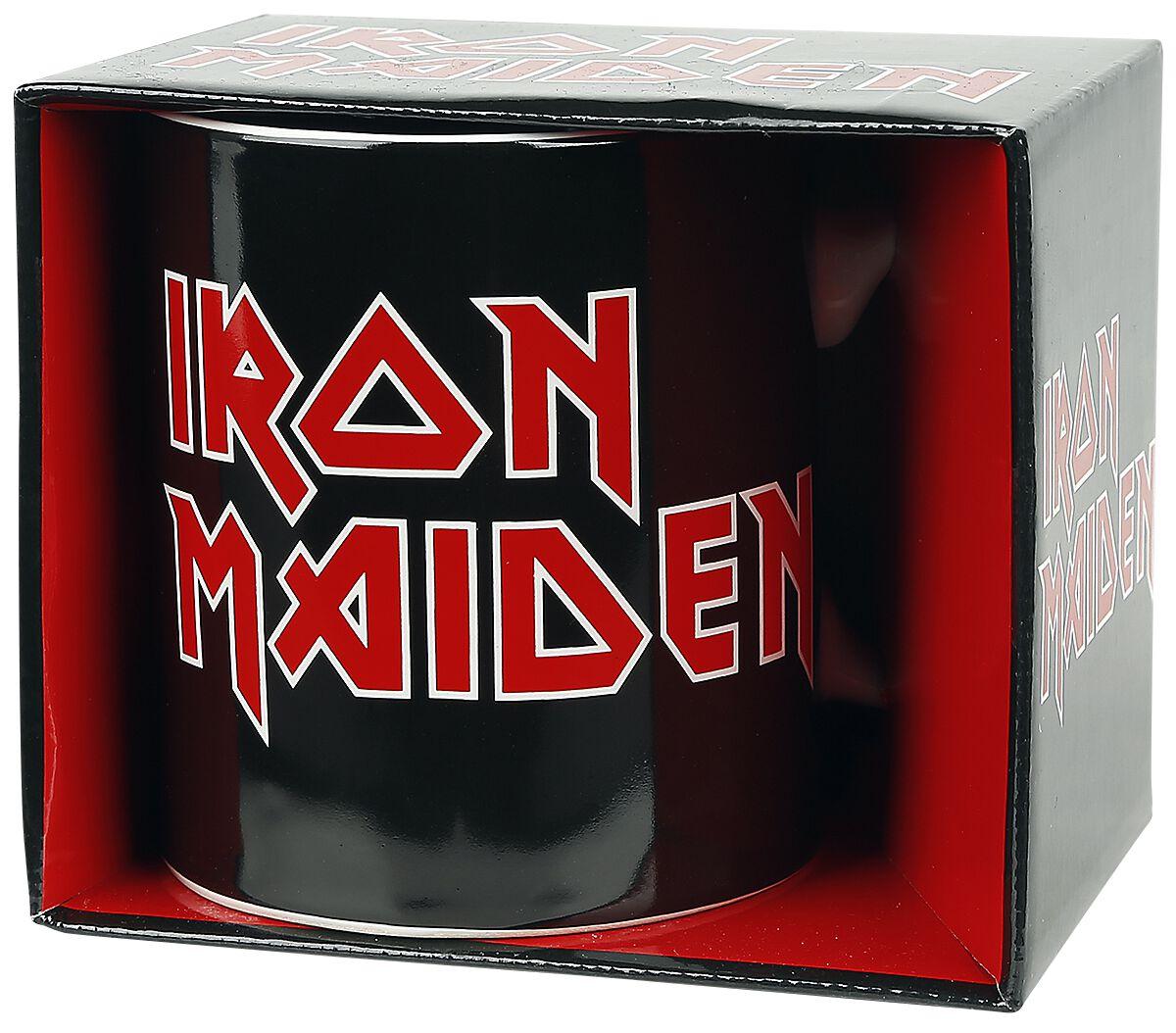 Image of   Iron Maiden Logo Krus hvid