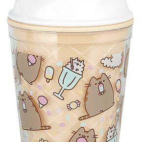 Pusheen Novelty Ice Cream Beaker with Straw