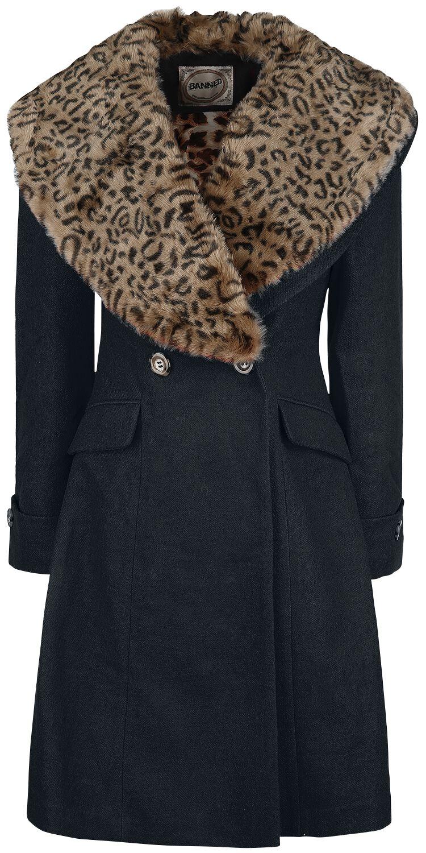 Banned Vintage Coat Płaszcz damski czarny