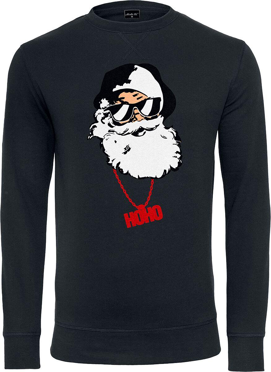 Marki - Bluzy - Bluza Mister Tee Santa Christmas Bluza czarny - 373893
