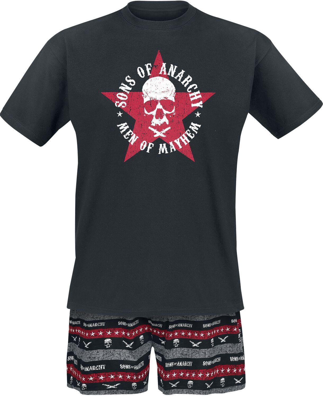 Merch dla Fanów - Do sypialni - Pidżama Sons Of Anarchy Men Of Mayhem Pidżama czarny - 373905