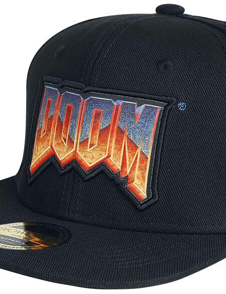 DOOM Logo Snapback Cap - Black