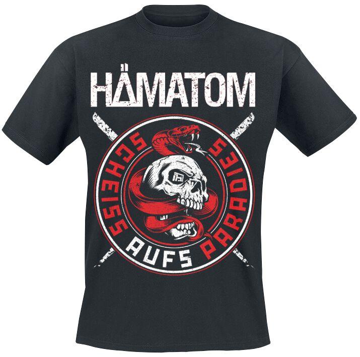 Zespoły - Koszulki - T-Shirt Hämatom Scheiss aufs Paradies T-Shirt czarny - 373926