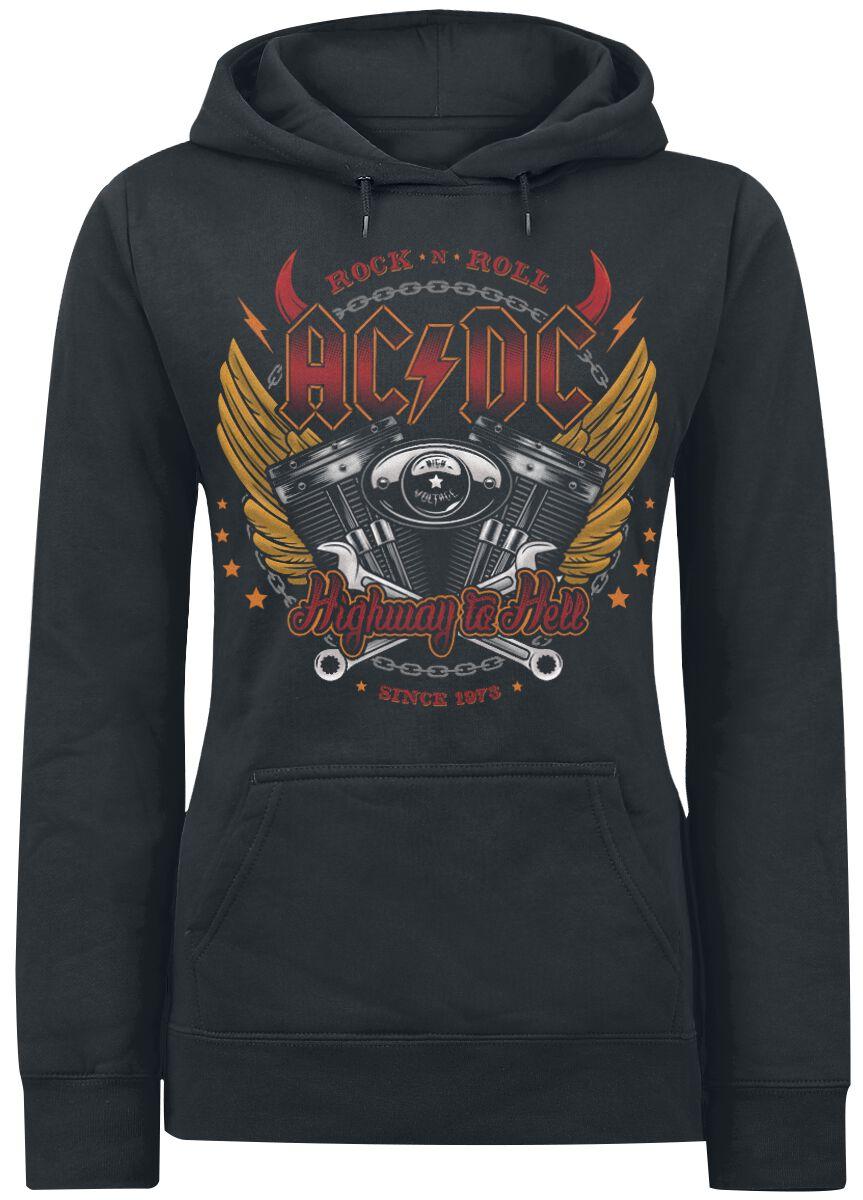 Image of   AC/DC Highway To Hell Girlie hættetrøje sort