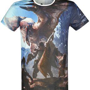 Monster Hunter World - Chasseurs T-shirt multicolore