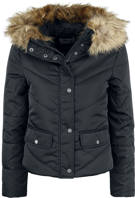 Noisy May Simona L/S Short Jacket Kurtka zimowa damska czarny