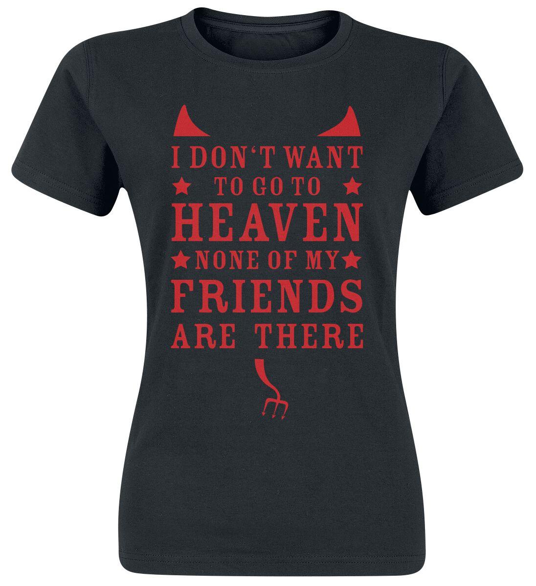 Fun Shirts - Koszulki - Koszulka damska I Don`t Want To Go To Heaven Koszulka damska czarny - 374108