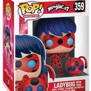 Figurine Pop! La Ladybug avec Tikki et Buddy - Miraculous, les aventures de Ladybug et Chat Noir