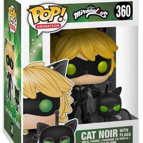 Figurine Pop! Le Chat Noir avec Plagg et Buddy - Miraculous, les aventures de Ladybug et Chat Noir