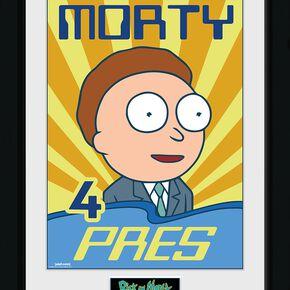 Rick & Morty Morty 4 Pres Photo encadrée multicolore