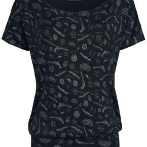 Supernatural Symbol Allover T-shirt Femme noir
