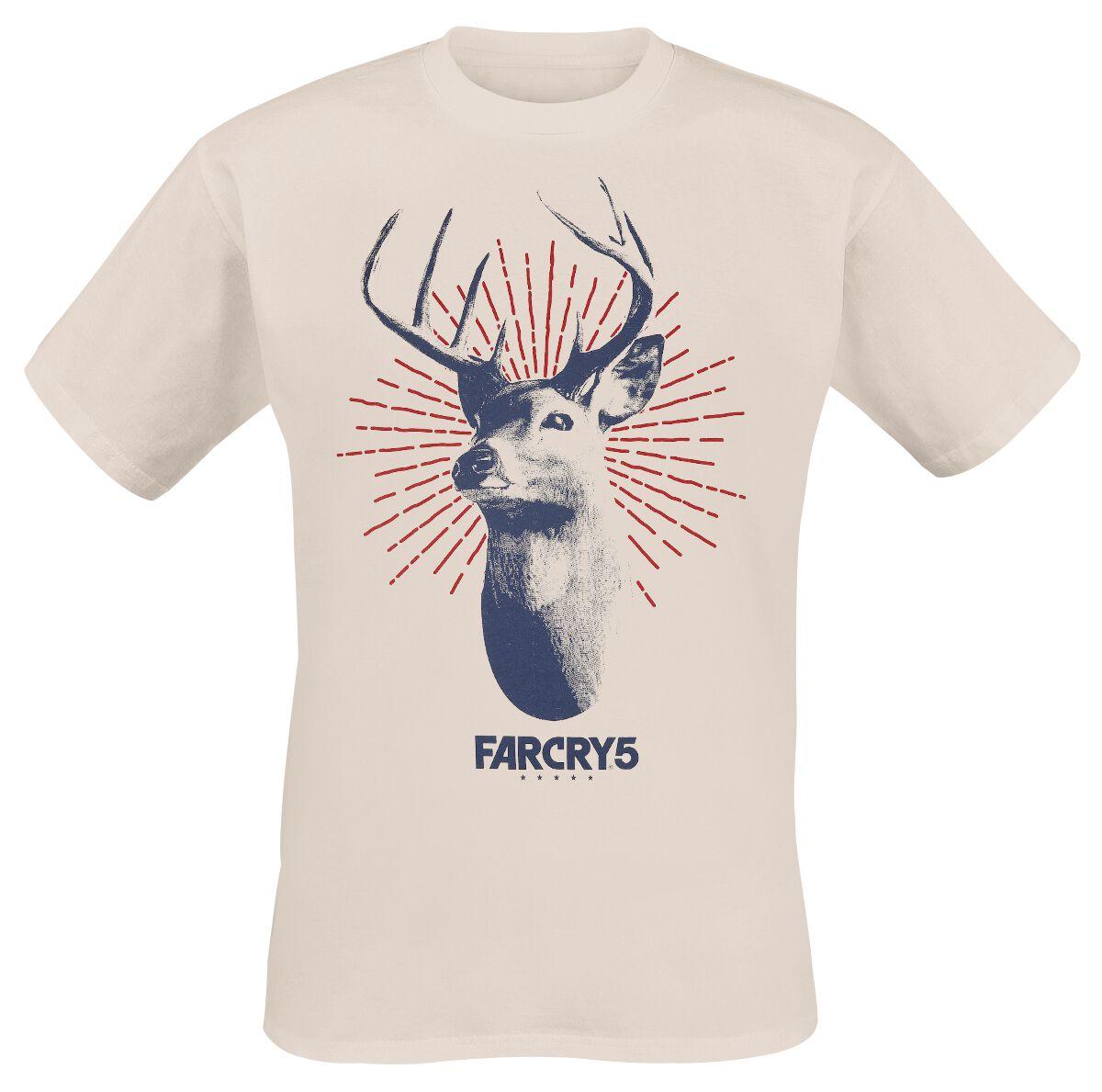 Merch dla Fanów - Koszulki - T-Shirt Far Cry 5 - Deer Logo T-Shirt piaskowy - 374298