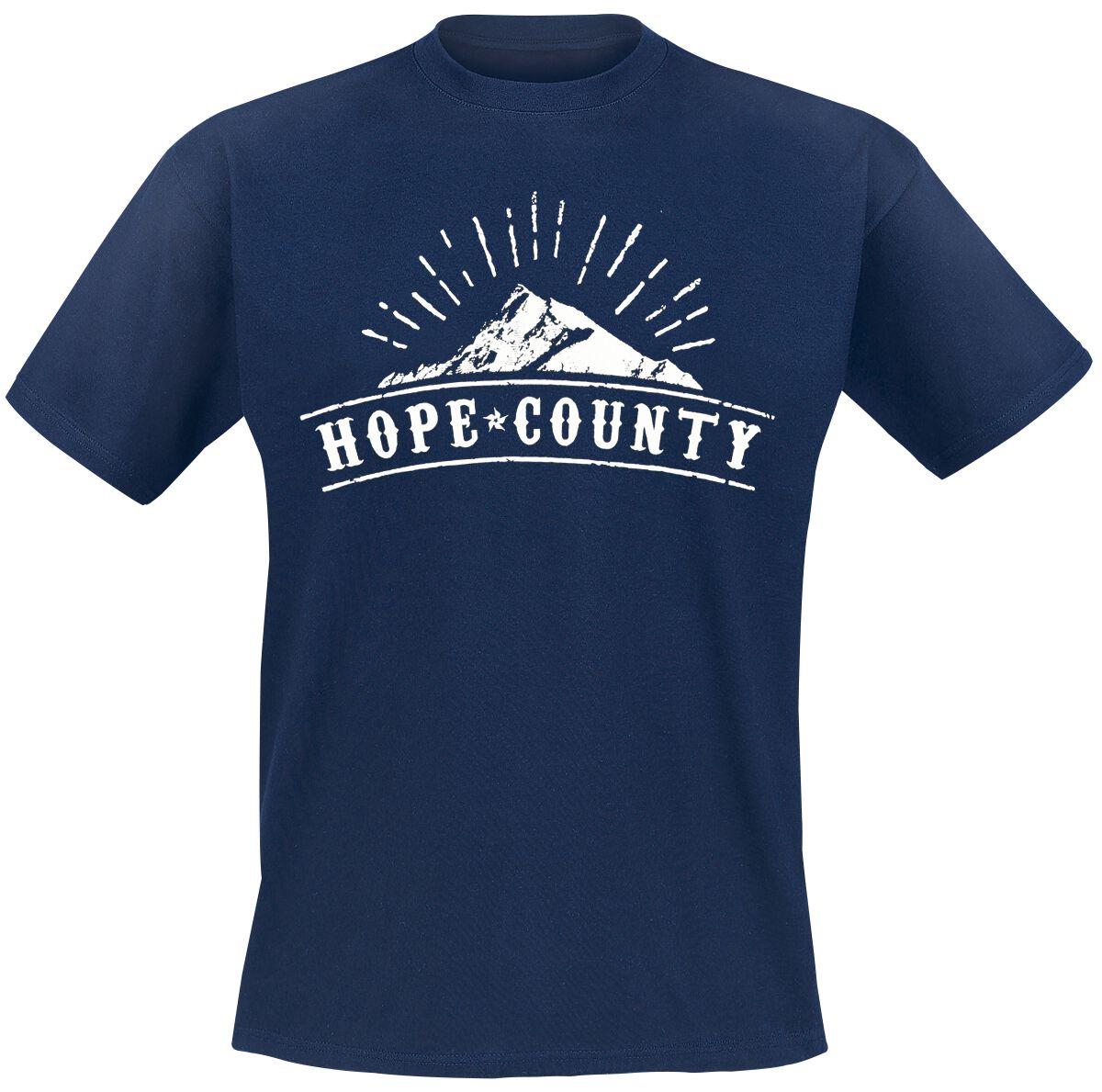 Merch dla Fanów - Koszulki - T-Shirt Far Cry 5 - Hope County T-Shirt granatowy - 374299