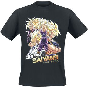 Dragon Ball Z - Super Saiyans T-shirt noir