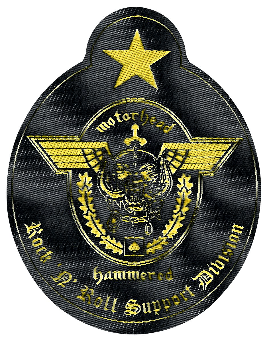 Motörhead Support Division Patch schwarz/gelb