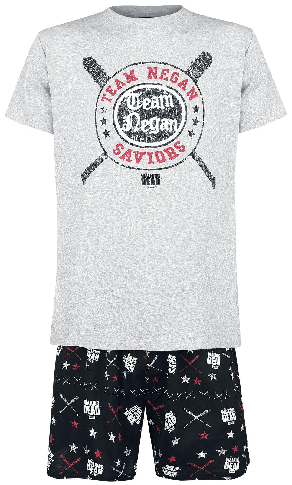 Image of   The Walking Dead Negan Pyjamas blandet grå-sort