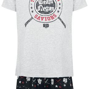 The Walking Dead Negan Pyjama gris chiné/noir