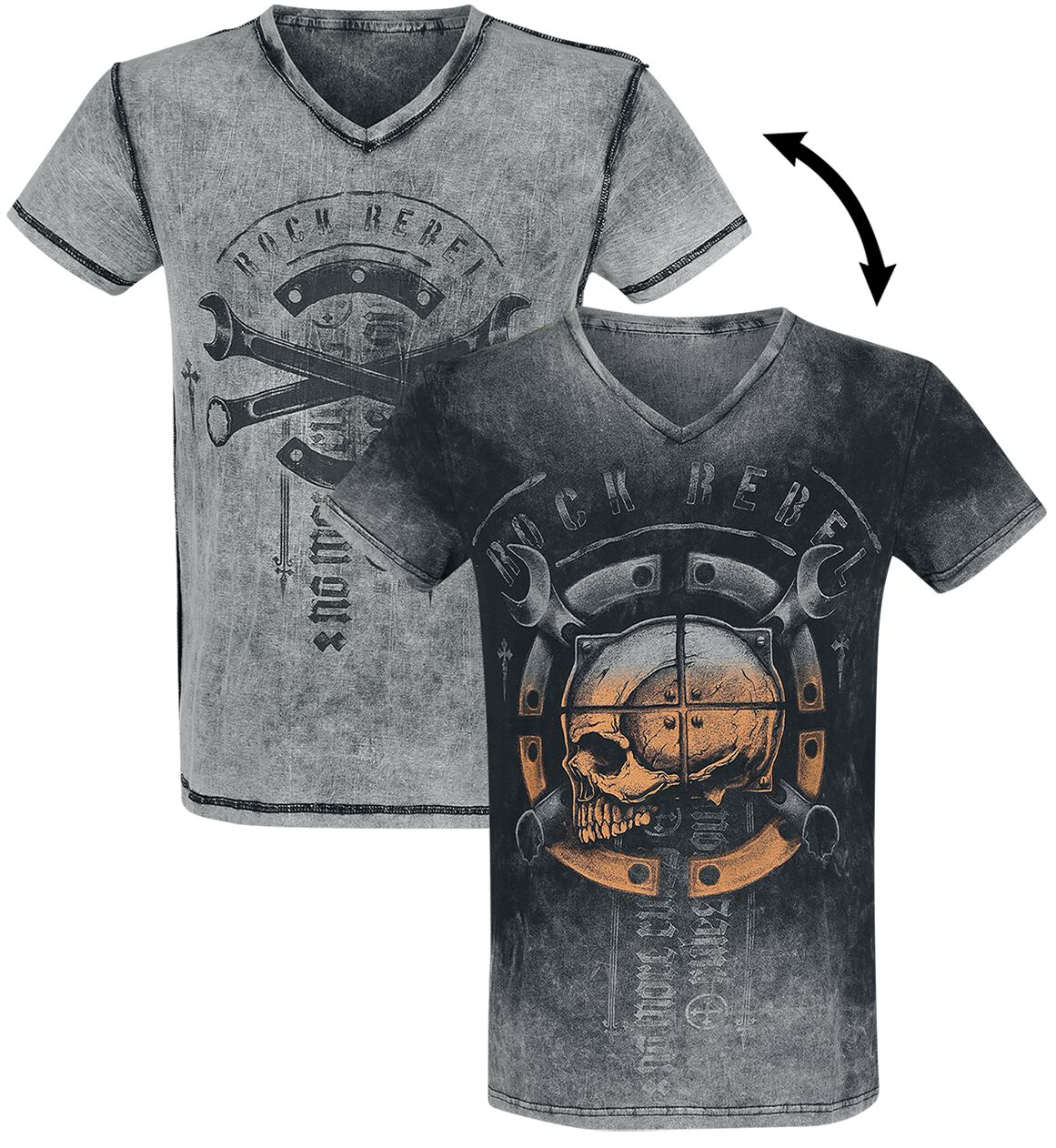 Image of   Rock Rebel by EMP Heavy Soul T-Shirt grå-sort