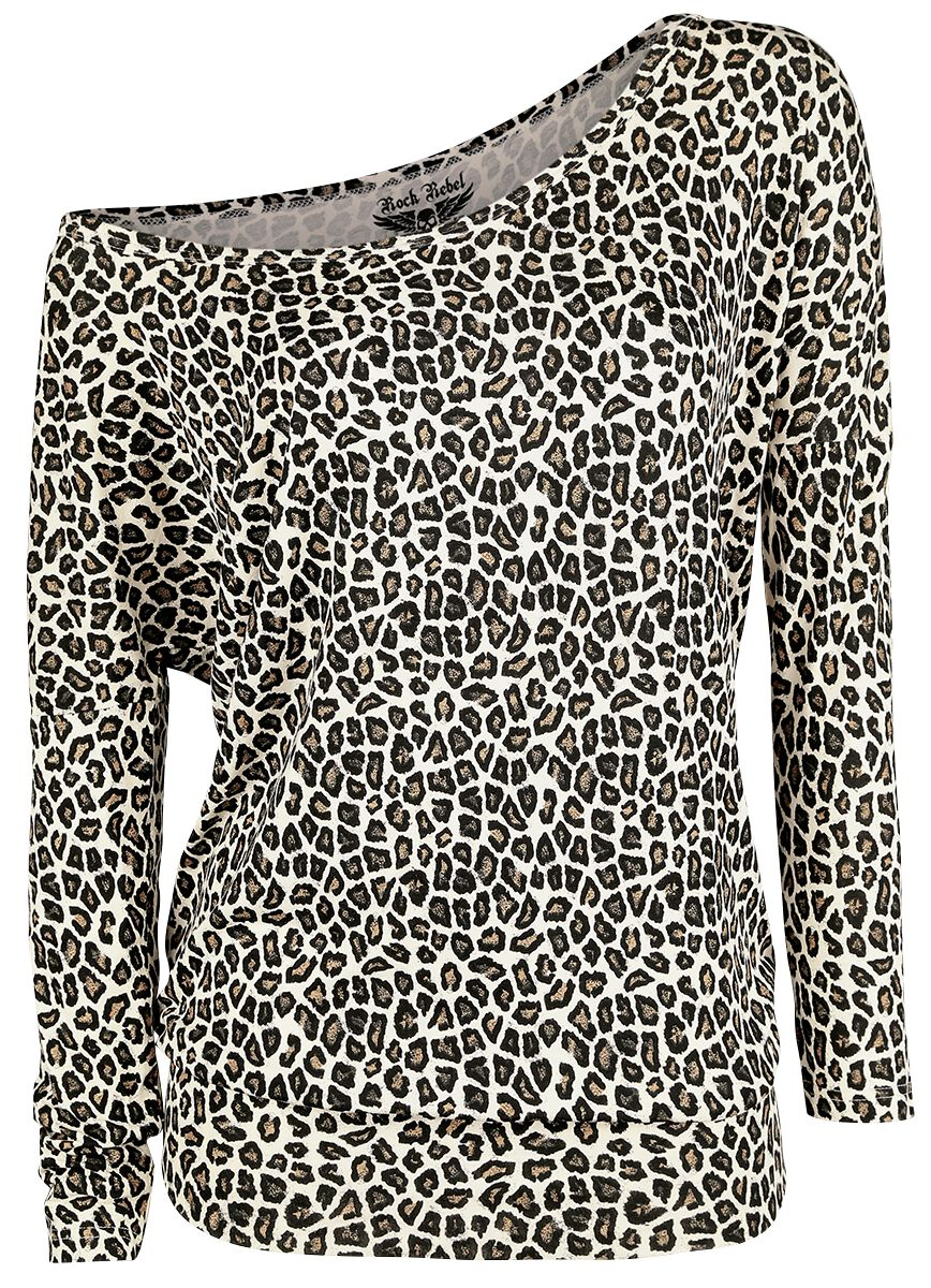 Image of   Rock Rebel by EMP Fast And Loose Girlie langærmet leopard
