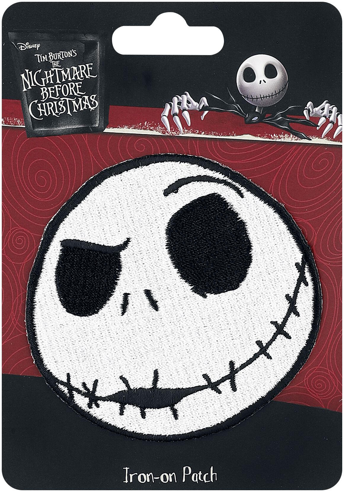 Image of   The Nightmare Before Christmas Loungefly - Jack Face Patch multifarvet