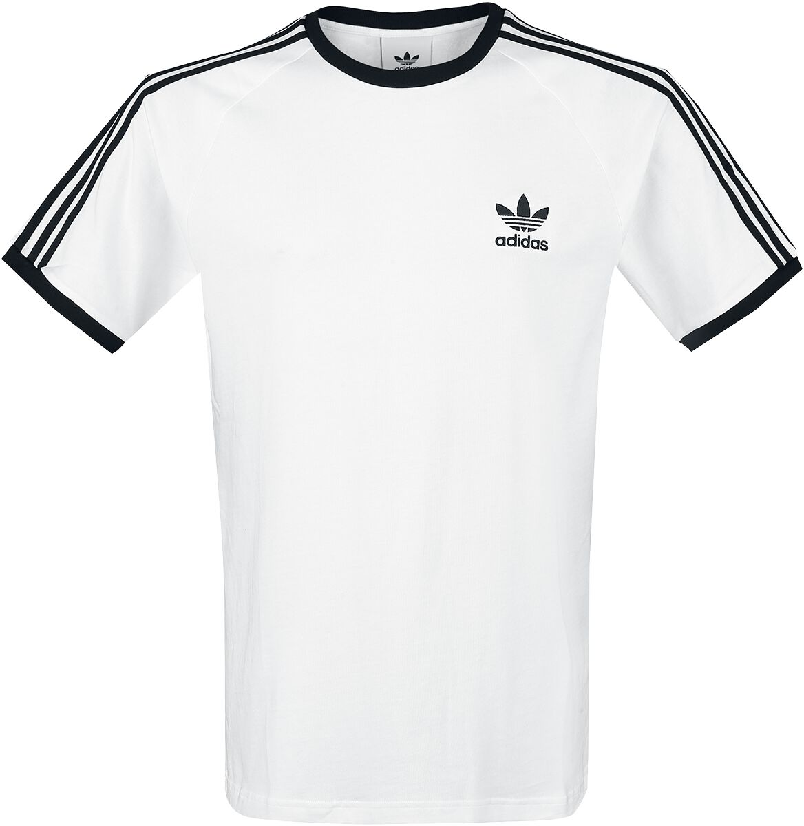 Image of   Adidas 3-Stripes Tee T-Shirt hvid-sort