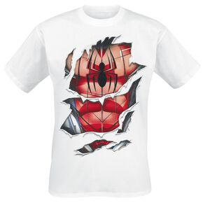 Spider-Man Destroyed Spider Web T-shirt blanc