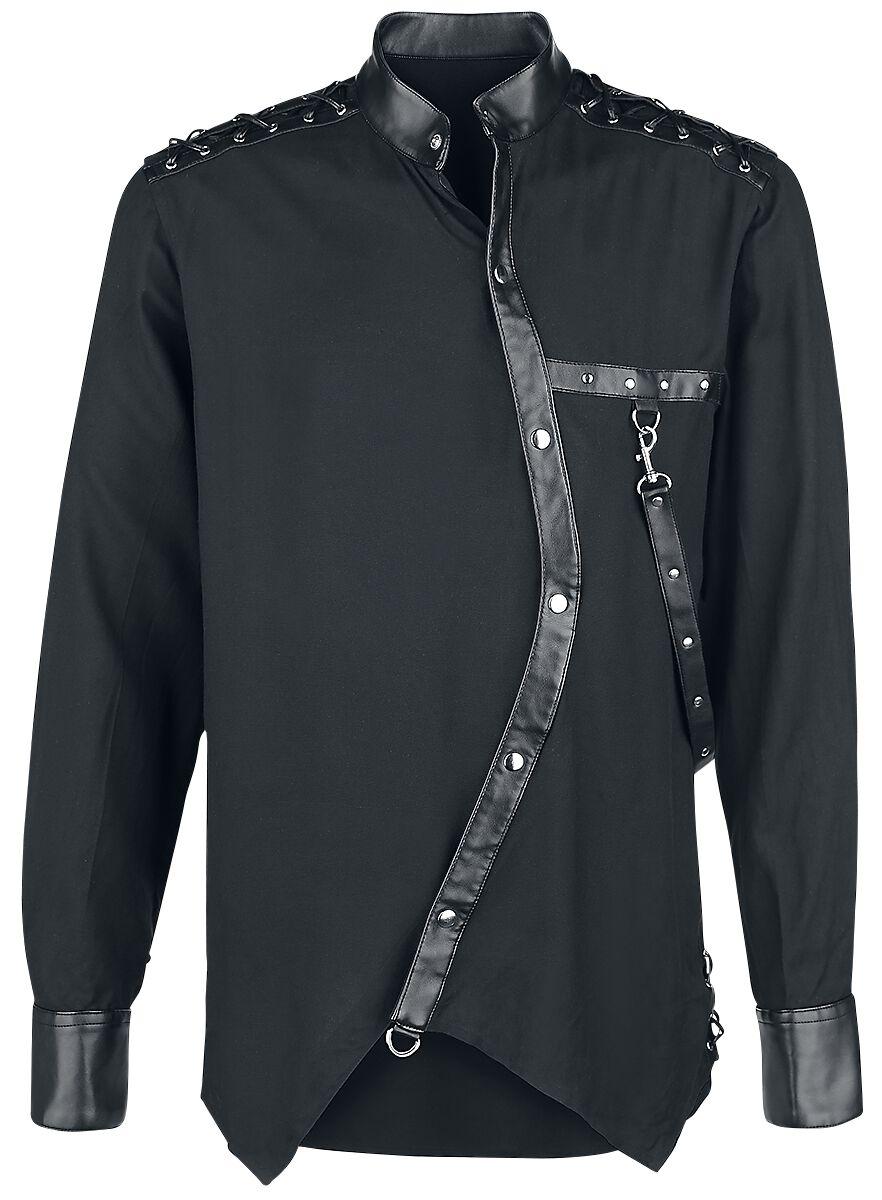Marki - Koszule z długim rękawem - Koszula Vintage Goth Koszula czarny - 374552
