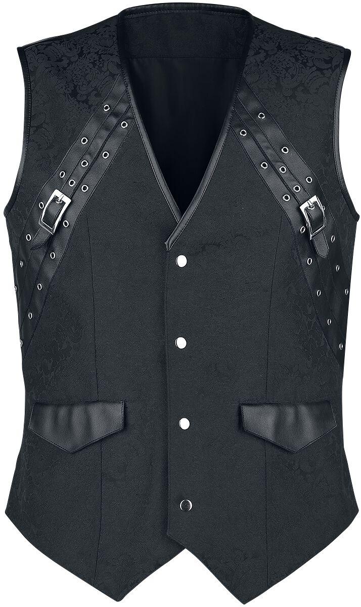 Marki - Kamizelki - Kamizelka Vintage Goth Gothic Men's Waistcoat Kamizelka czarny - 374553