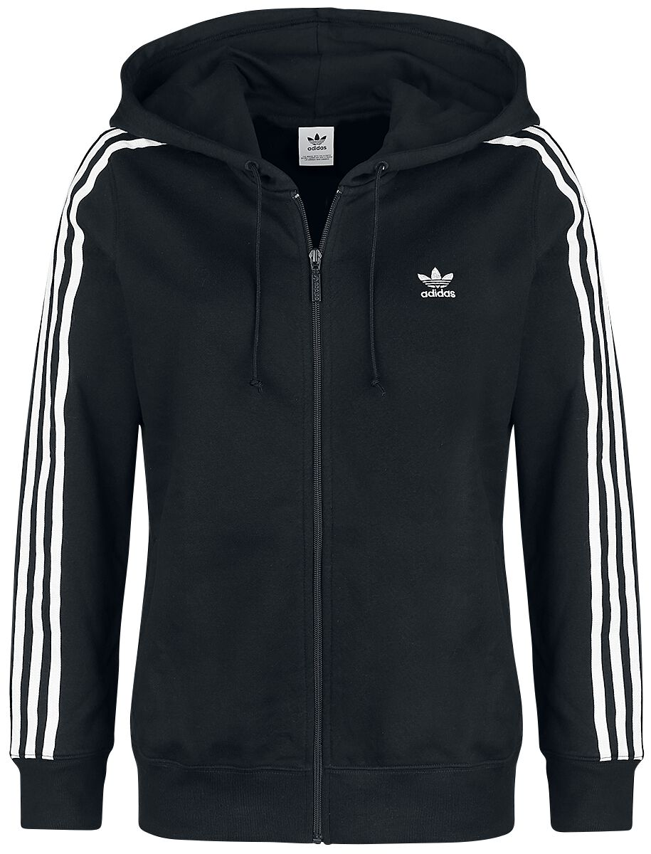 Image of   Adidas 3 STR Zip Hoodie Girlie hættejakke sort-hvid