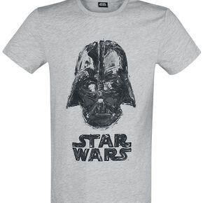 Star Wars Dark Vador T-shirt gris clair chiné