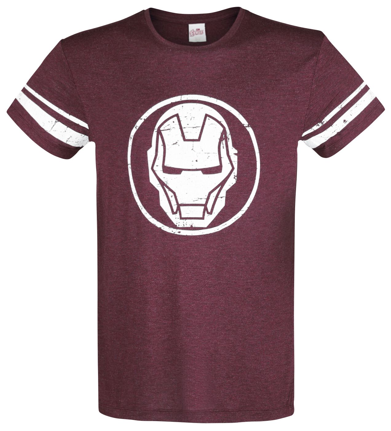 Image of   Iron Man The Invincible T-Shirt Blandet mørkerød