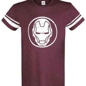 Iron Man The Invincible T-shirt rouge foncé chiné