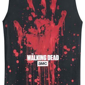 The Walking Dead Bloody Handprint Débardeur noir