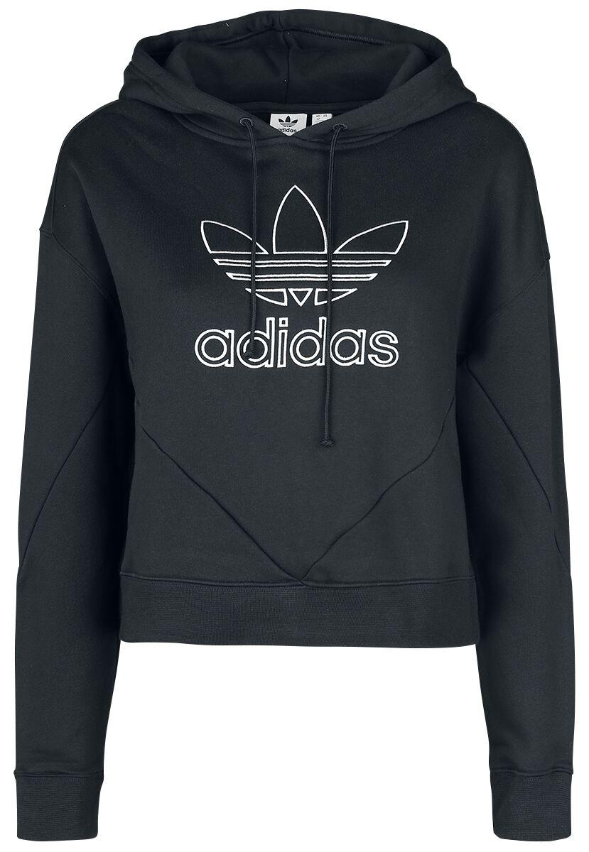 Image of   Adidas CLRDO Hoody Girlie hættetrøje sort-hvid